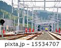 電車 線路 レールの写真 15534707
