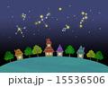 星空と街並み 15536506