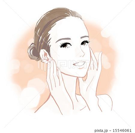肌の綺麗な女性のイラスト素材 15546061 Pixta