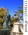 4月愛知 清洲の織田信長公像と濃姫像 15546111
