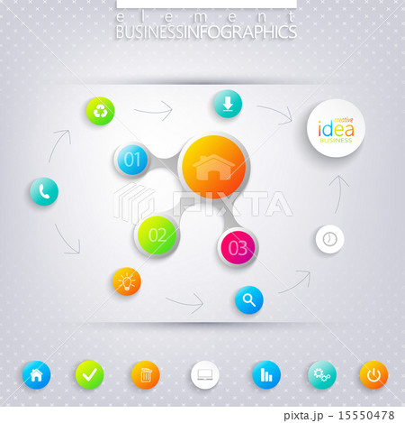 Modern infographic network template with place for your text. のイラスト素材 [15550478] - PIXTA