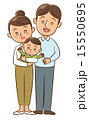 夫婦と赤ちゃん 15550695