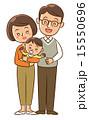 夫婦と赤ちゃん 15550696