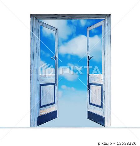 未来への希望の扉のイラスト素材 15553220 Pixta