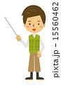 鳶職 指示棒 ベクターのイラスト 15560462