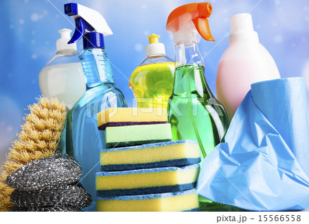 Group of assorted cleaning, home work colorful の写真素材 [15566558] - PIXTA