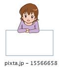 ベクター メッセージボード 女の子のイラスト 15566658