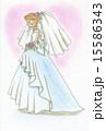 新婦 ウェディング ブライダルのイラスト 15586343