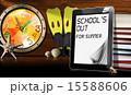 コンピュータ 置時計 スクールのイラスト 15588606