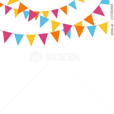 buntings isolated on whiteのイラスト素材 [15590469] - PIXTA