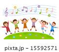 子供たち 音符 ベクターのイラスト 15592571