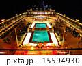 豪華客船 デッキ ライトアップの写真 15594930