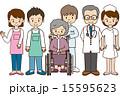 看護師 ヘルパー 車椅子のイラスト 15595623