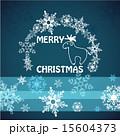 トナカイ メリークリスマス メッセージカードのイラスト 15604373