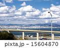 淡路島の高架橋と神戸方面 15604870