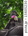 紫陽花を持った仏像 15605230