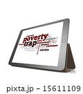 貧困 タブレット トラップのイラスト 15611109