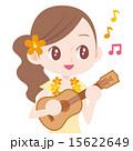ウクレレを演奏する女性  15622649