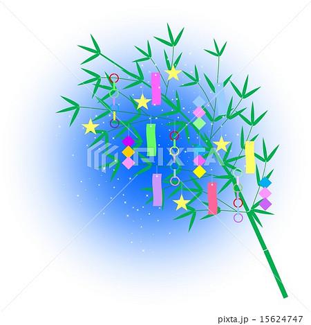 星屑がいっぱいの笹飾り 15624747