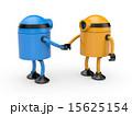 ロボット 握手 アンドロイドのイラスト 15625154