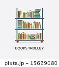 Flat Design Books Trolley 15629080