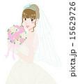 ウエディング ウエディングドレス ブーケのイラスト 15629726