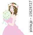 ウエディング ウエディングドレス ブーケのイラスト 15629727