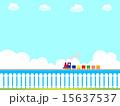 蒸気機関車 ベクター 柵のイラスト 15637537