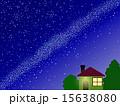 天の川 星屑 星空のイラスト 15638080