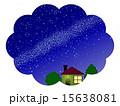 天の川 星屑 星空のイラスト 15638081