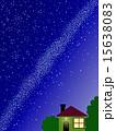 天の川 星屑 星空のイラスト 15638083