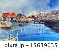 英国ハイズマリーナビレッジ・港町サザンプトンのスケッチ 15639035