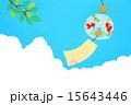 風鈴 夏 青空のイラスト 15643446