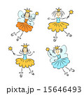 Fairy princess with a magic wand vector set 15646493