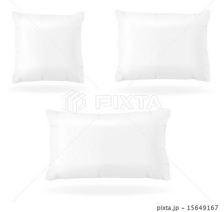 white pillow to sleep vector illustrationのイラスト素材 [15649167] - PIXTA
