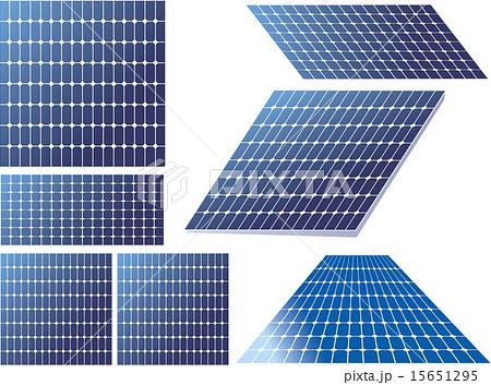 ソーラーパネルのイラスト素材 15651295 Pixta