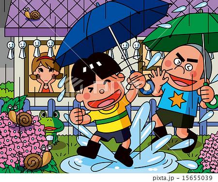 梅雨と子供 15655039