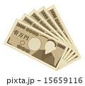 開いた一万円札 15659116