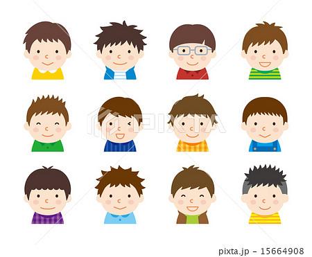 色んな髪型 男の子 アイコン 15664908