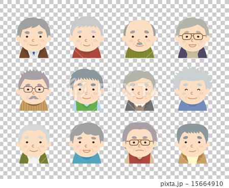 各種髮型祖父圖標 15664910