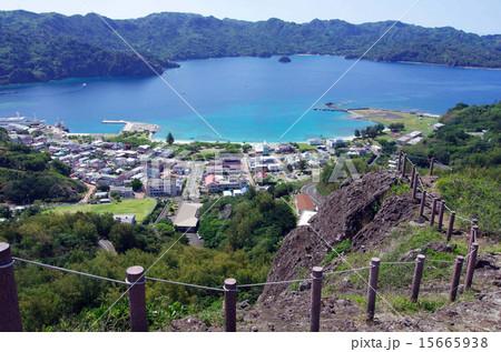 小笠原諸島 父島、島内の風景(三日月山山頂からの景色) 15665938