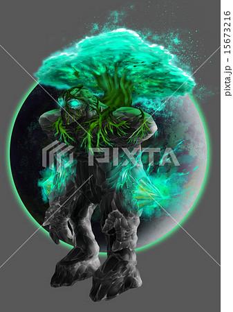 ゴーレム木属性のイラスト素材 15673216 Pixta