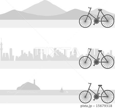自転車のイラスト素材 [15679318 ...