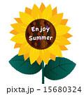 メッセージ 花 夏のイラスト 15680324