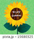 花 夏 メッセージのイラスト 15680325