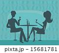 レストラン 飲食店 人影のイラスト 15681781