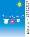 洗濯日和 洗濯物 乾燥のイラスト 15682517