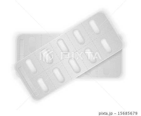 medical pills in package for treatment vectorのイラスト素材 [15685679] - PIXTA