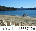 人物 ランニング 砂浜の写真 15687120