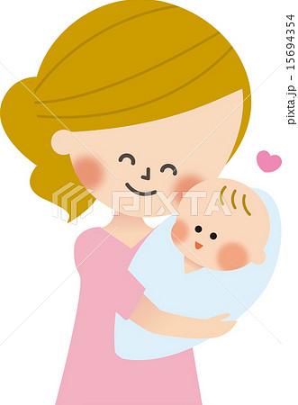 ママと赤ちゃんのイラスト素材 15694354 Pixta